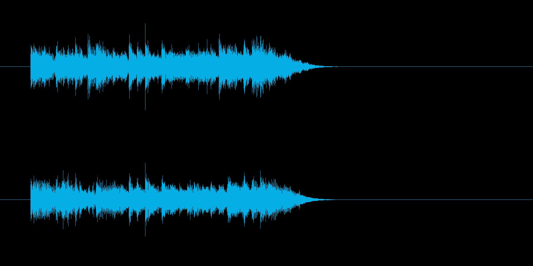 かわいい シンセサイザー 冬 キラキラの再生済みの波形