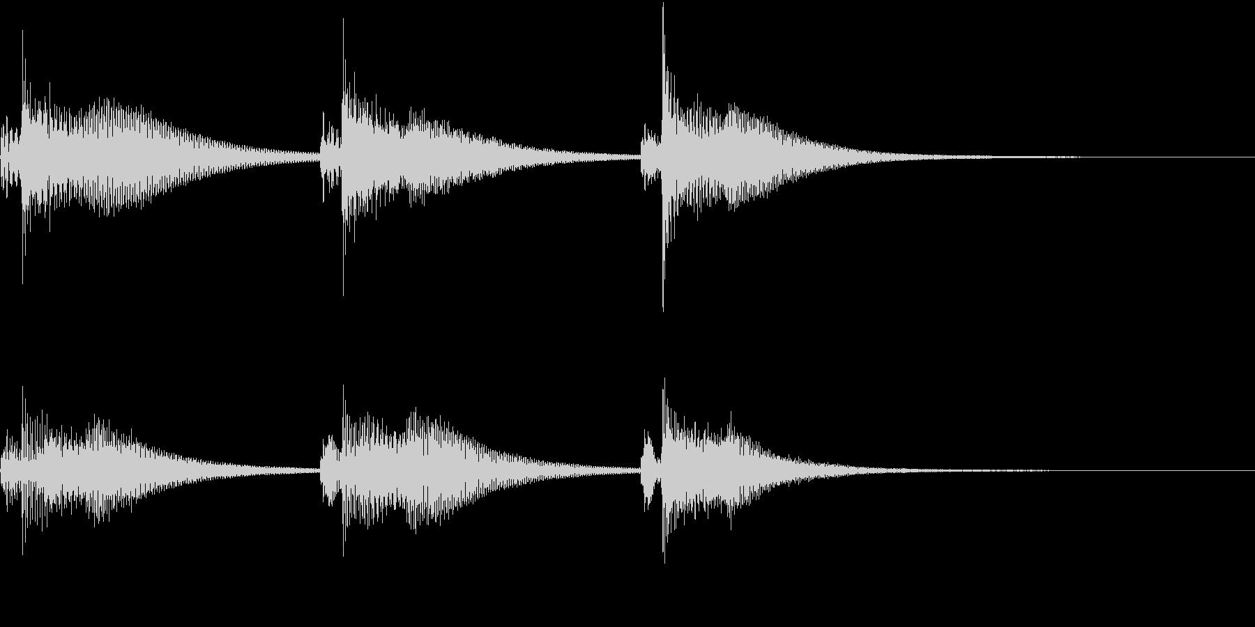 Kawaii メルヘンな受信・通知音 1の未再生の波形
