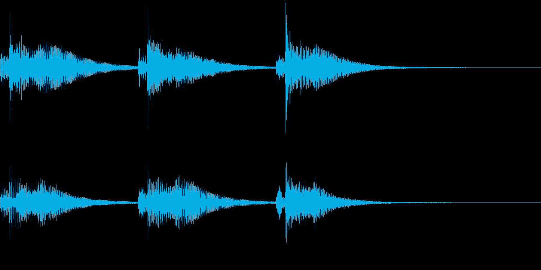 Kawaii メルヘンな受信・通知音 1の再生済みの波形