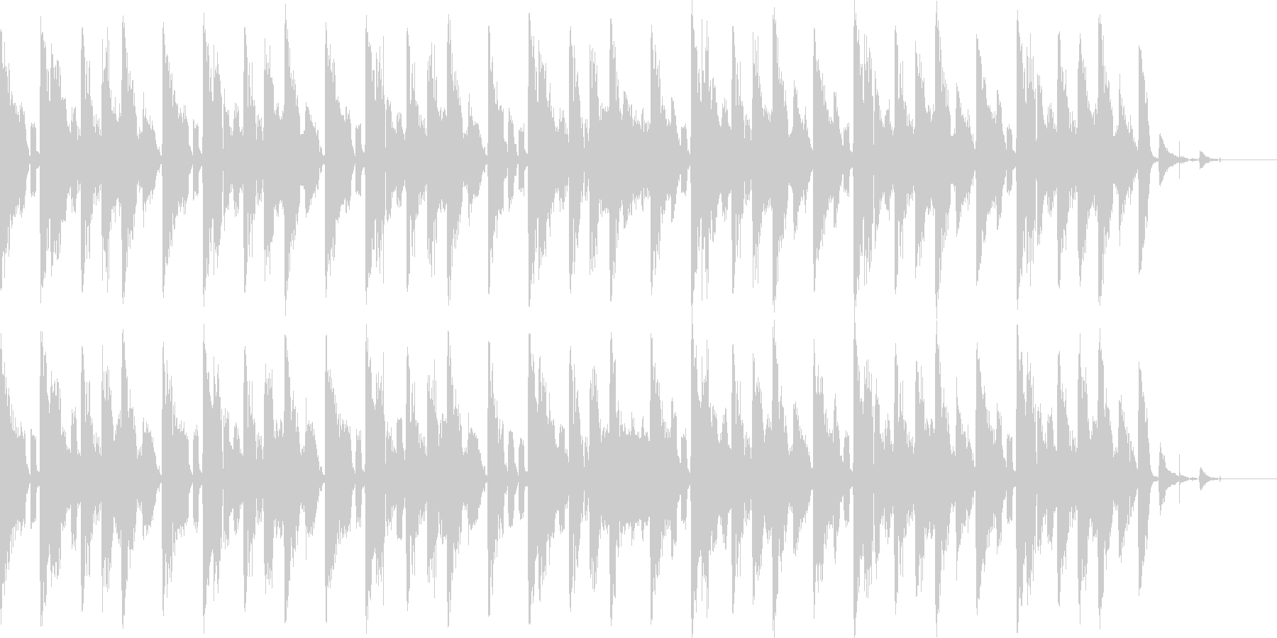 テクノテイストのBGMの未再生の波形
