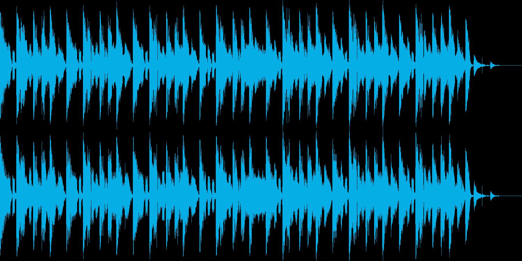 テクノテイストのBGMの再生済みの波形
