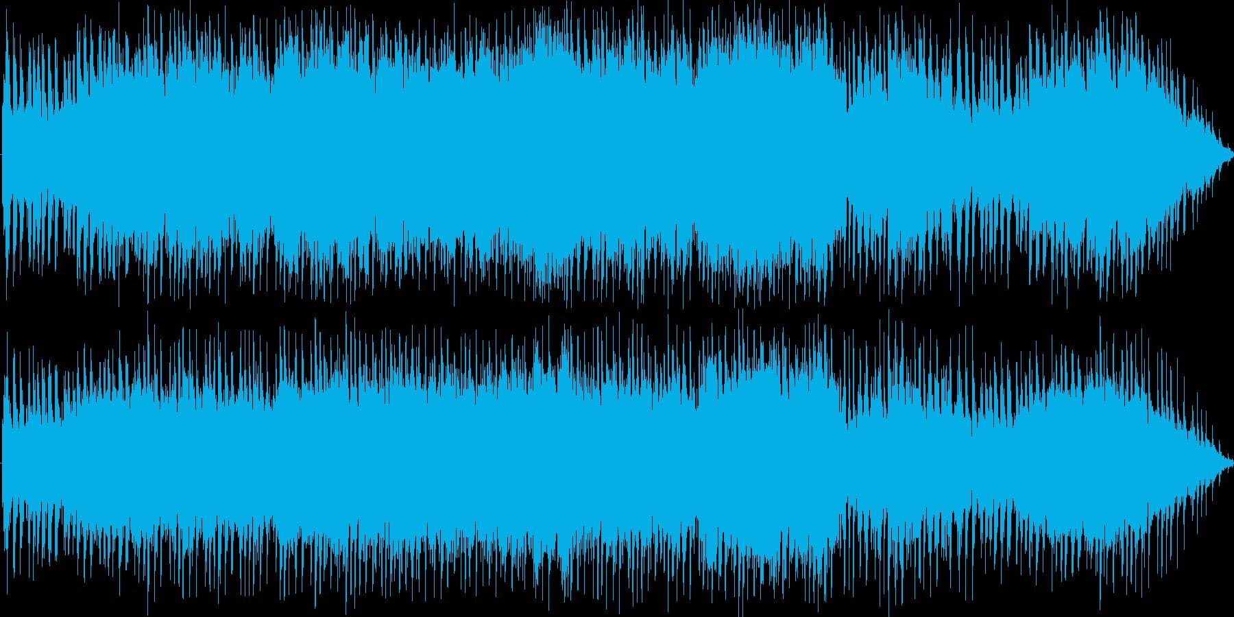 凛々しいシンセオーケストラソングですの再生済みの波形