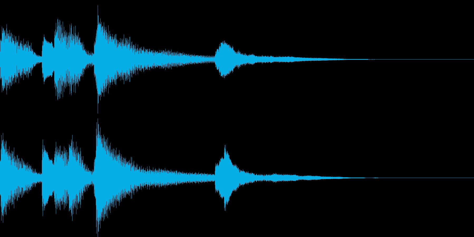 ピアノで場面転換するお洒落なジングルの再生済みの波形