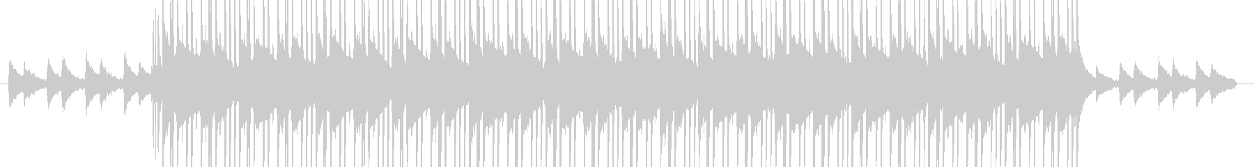 お洒落なピアノ&ジャジーなヒップホップの未再生の波形
