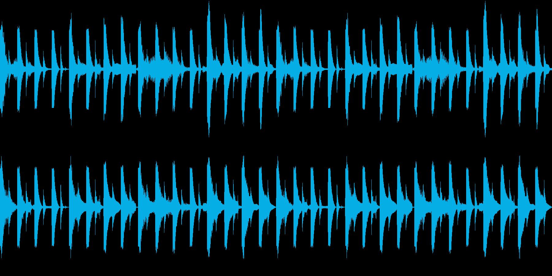 四つ打ちとエレピのおしゃれサウンドの再生済みの波形