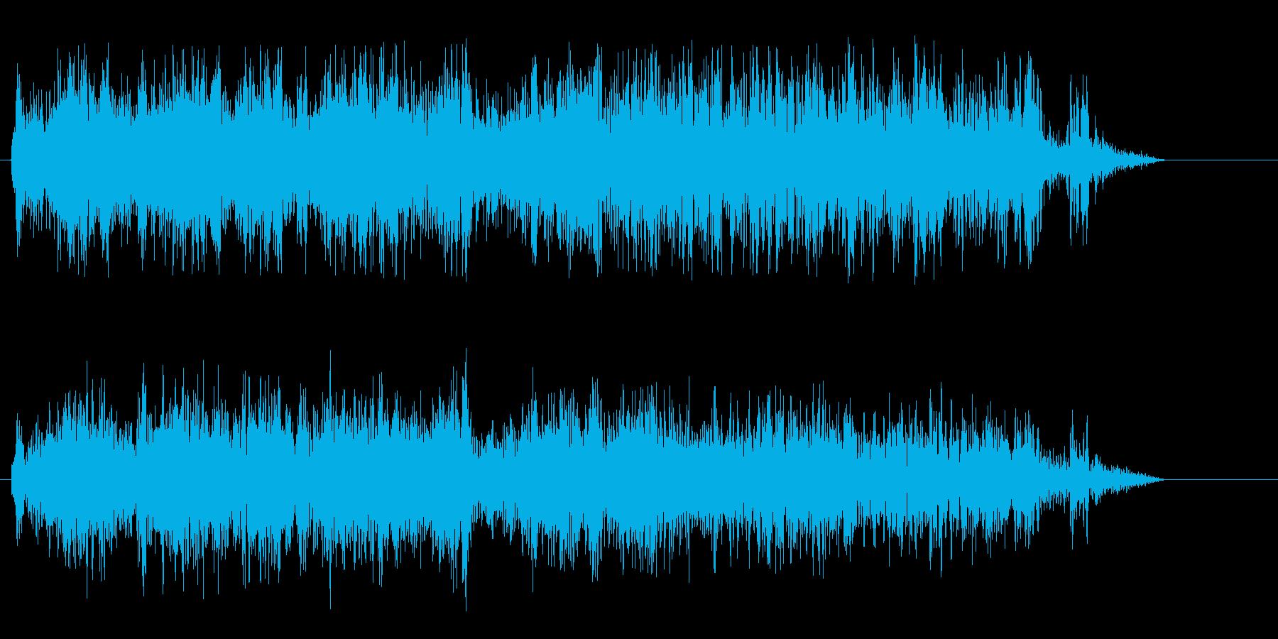 ジューイ↑(勢いのある効果音)の再生済みの波形