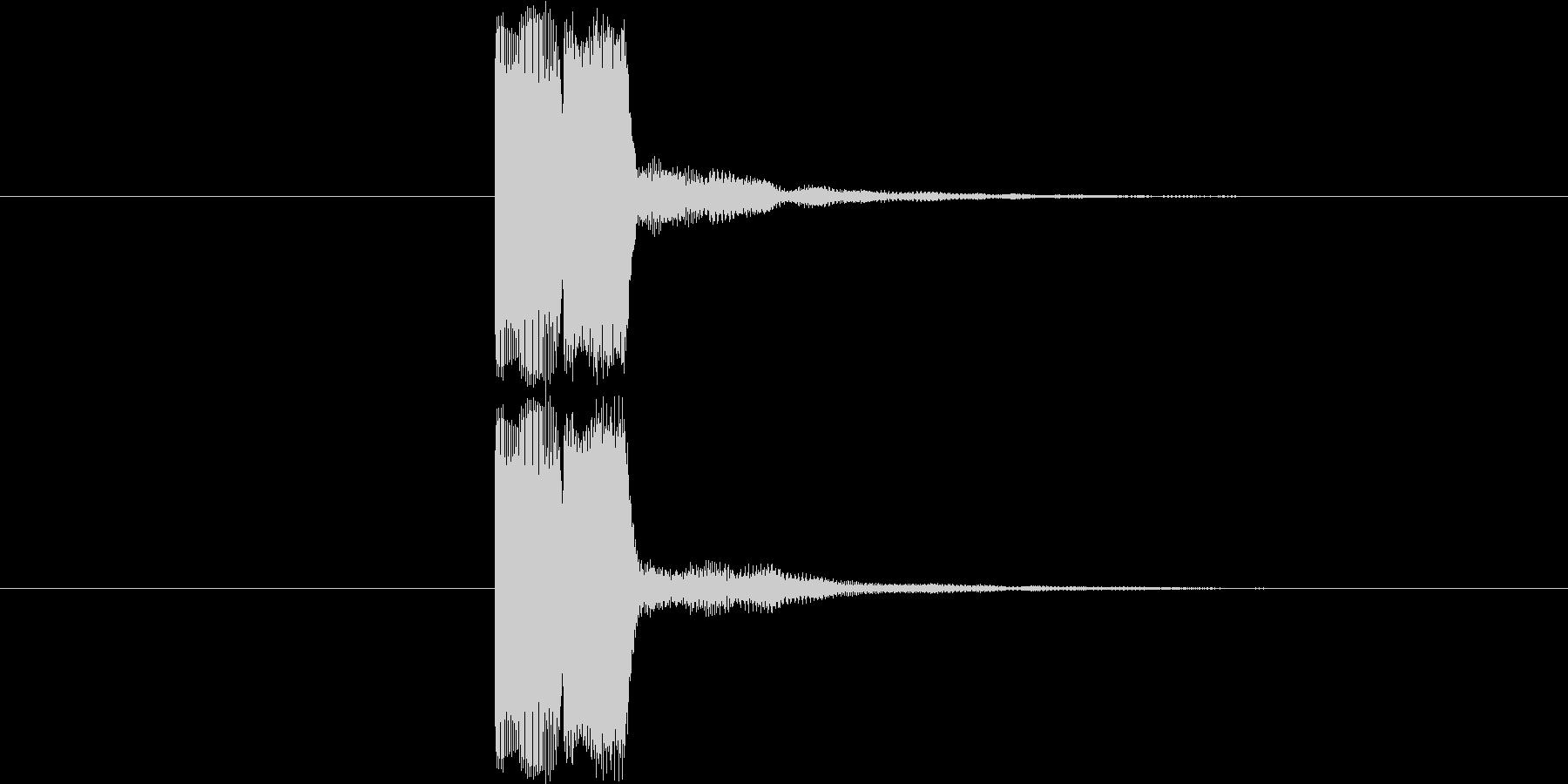 ゲーム等の操作決定音に使える音03の未再生の波形