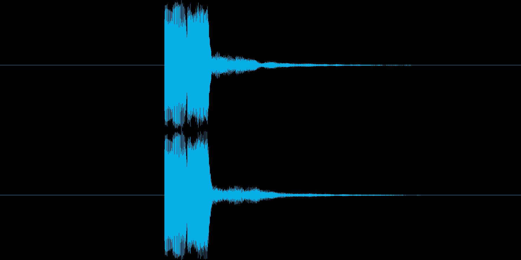 ゲーム等の操作決定音に使える音03の再生済みの波形