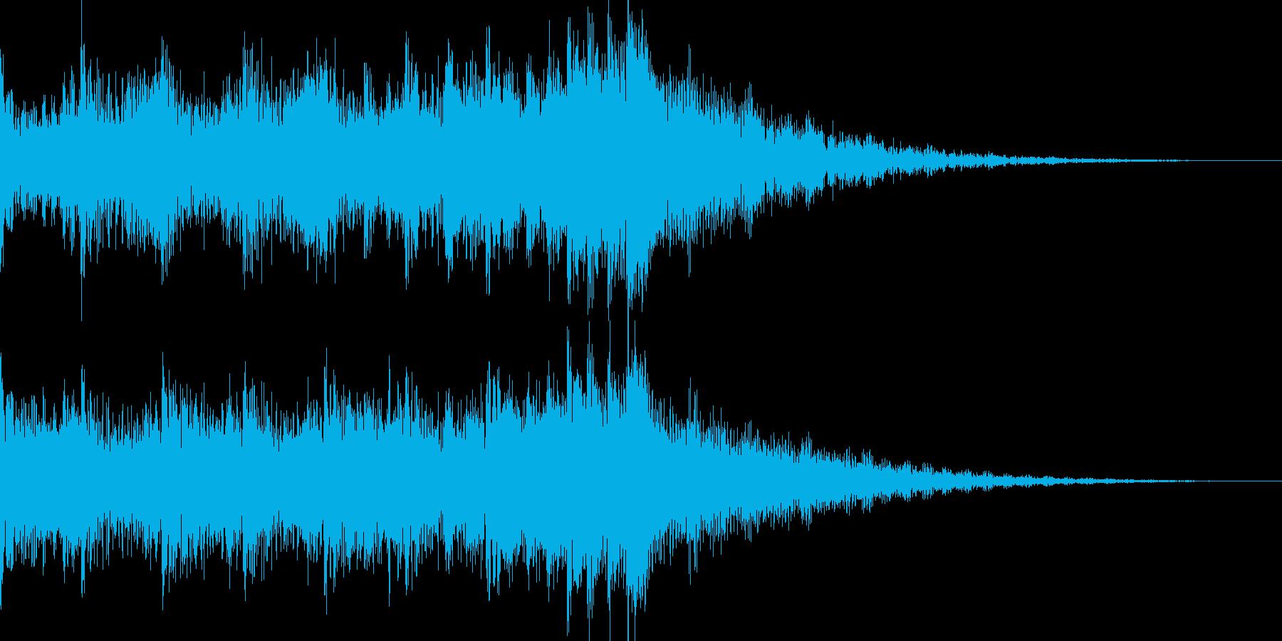 シリアスなシーンに合うEDMジングルの再生済みの波形