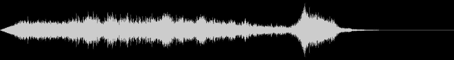 ワープ 宇宙的 未来的な効果音 04の未再生の波形