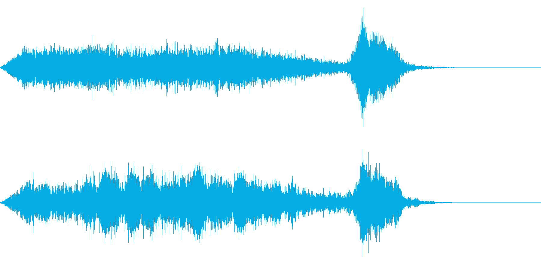 ワープ 宇宙的 未来的な効果音 04の再生済みの波形