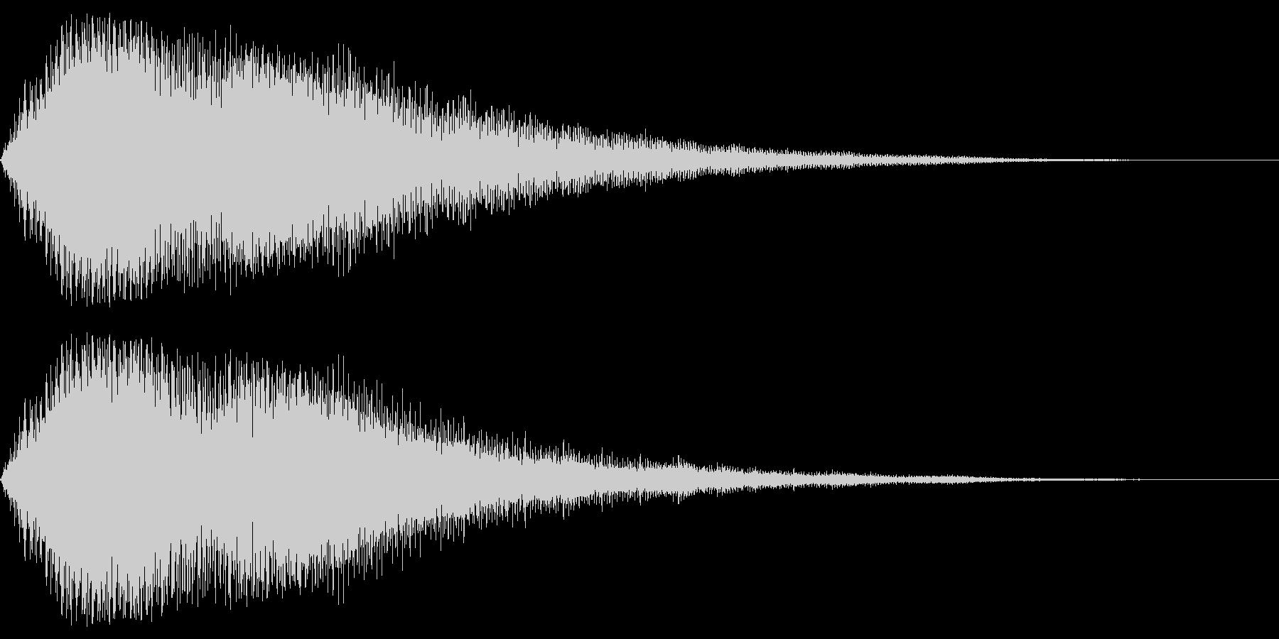 ピアノショッキング音の未再生の波形