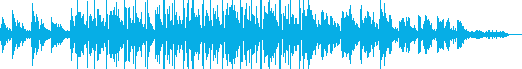 おしゃれでどこか憂鬱なBGMの再生済みの波形