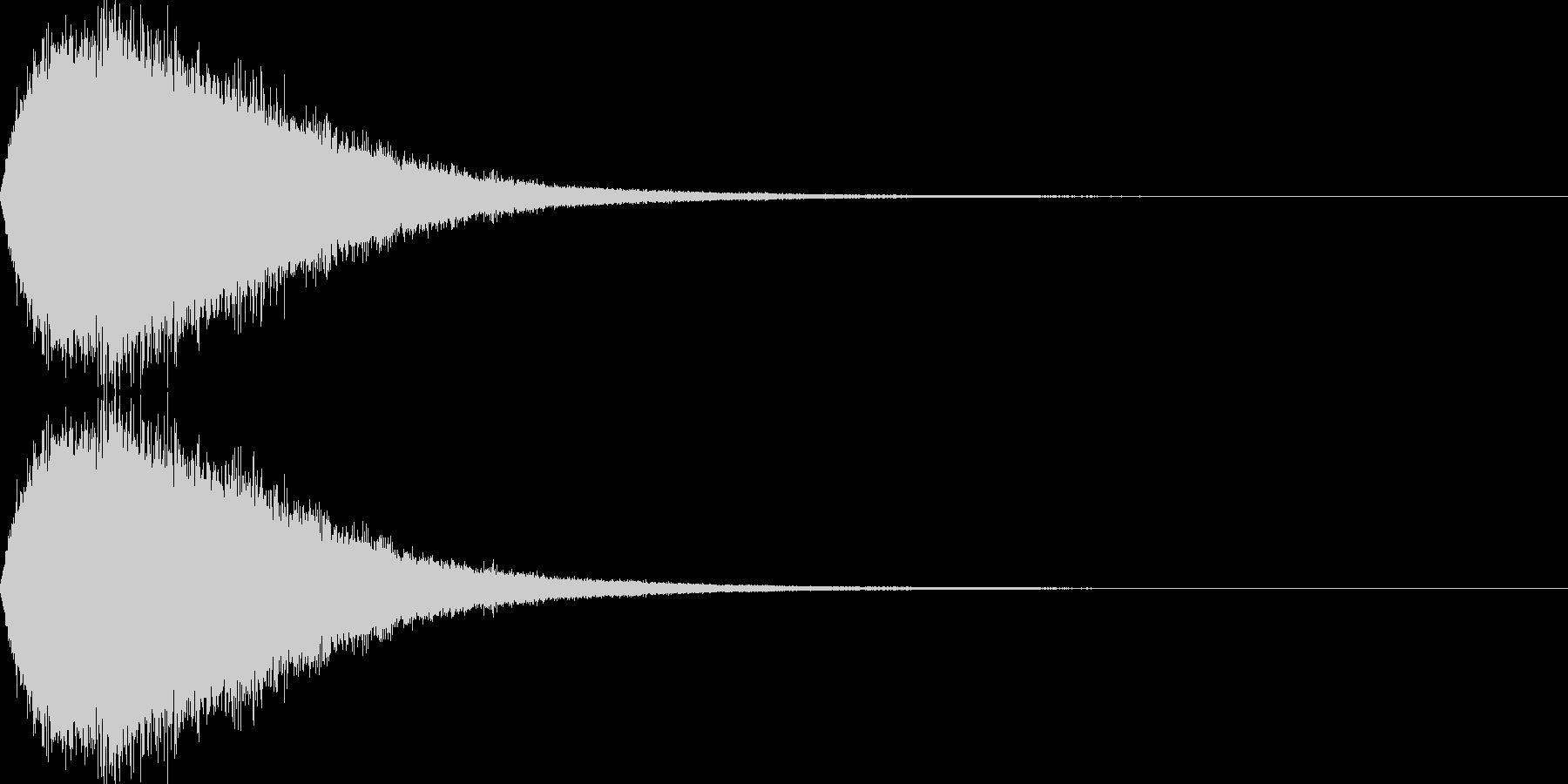 ロケット音01の未再生の波形