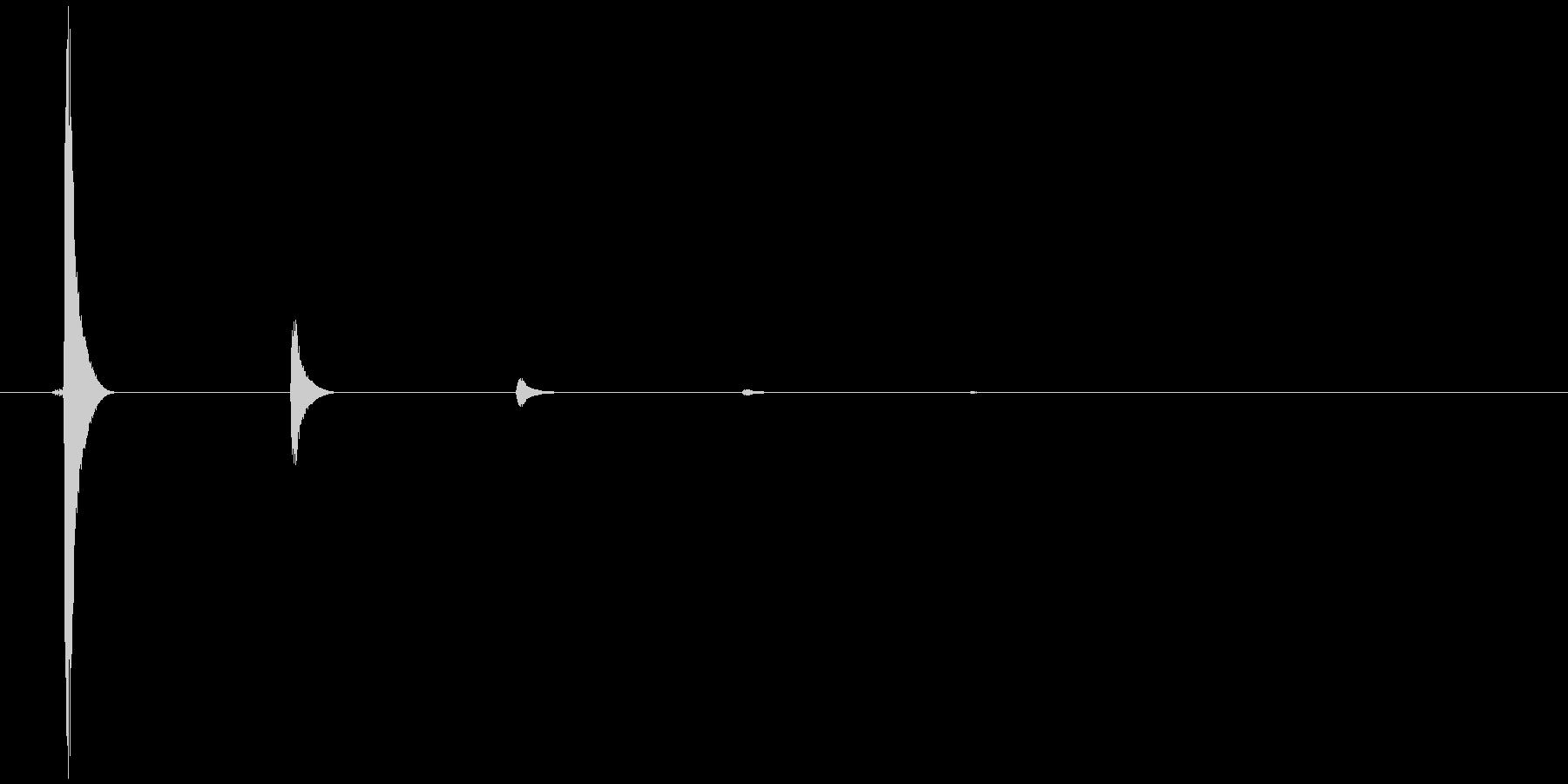 シンプルなクリック音1の未再生の波形