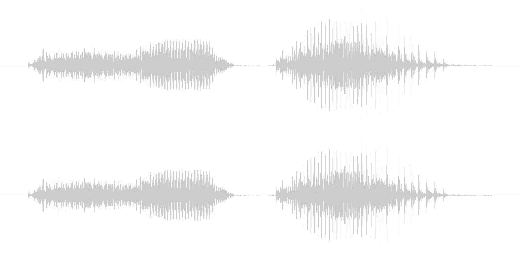 ツーペア - ポーカーの役(普通の未再生の波形
