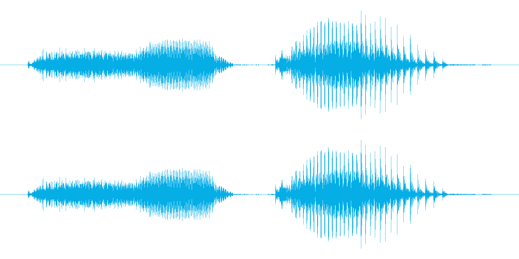 ツーペア - ポーカーの役(普通の再生済みの波形
