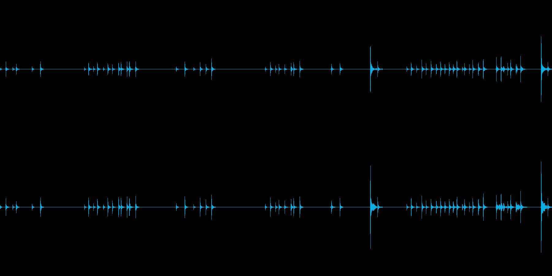 イライラしてクリックを連打する音の再生済みの波形