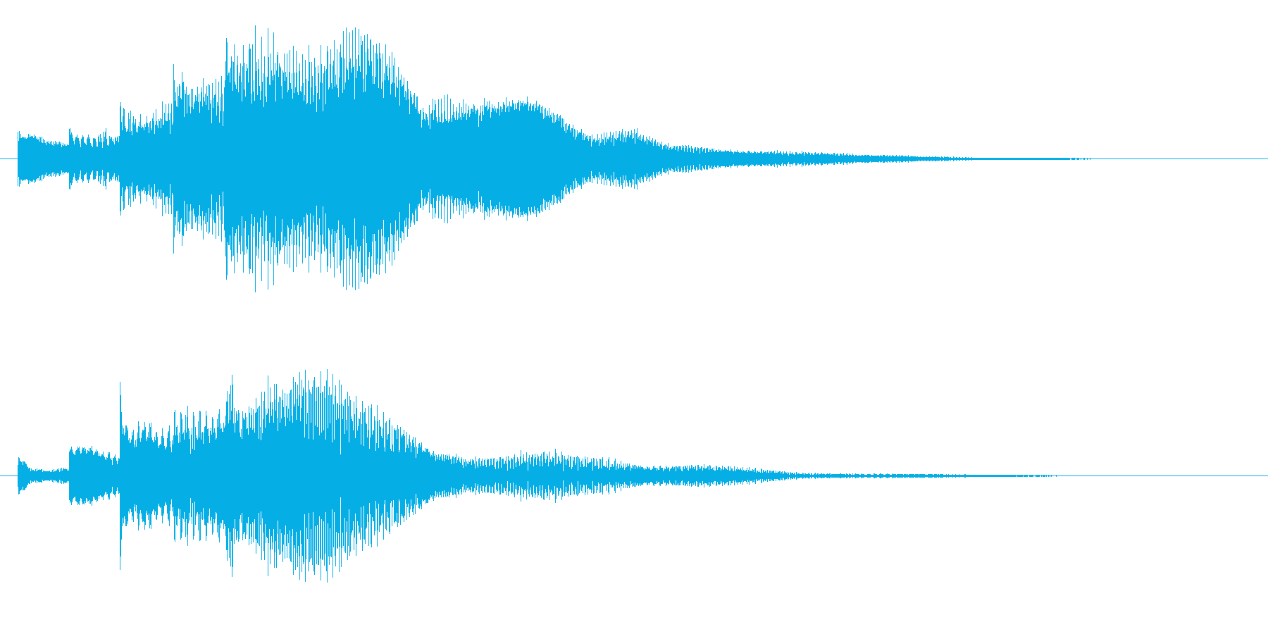 キラリーン(明るいベルの音)の再生済みの波形
