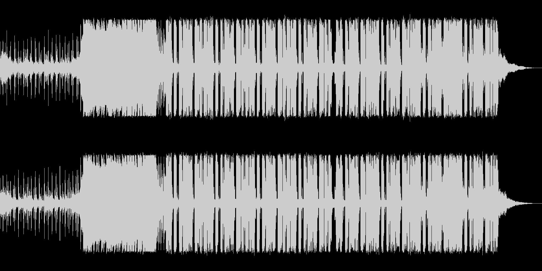 マイルドで緩やかなテクノポップの未再生の波形