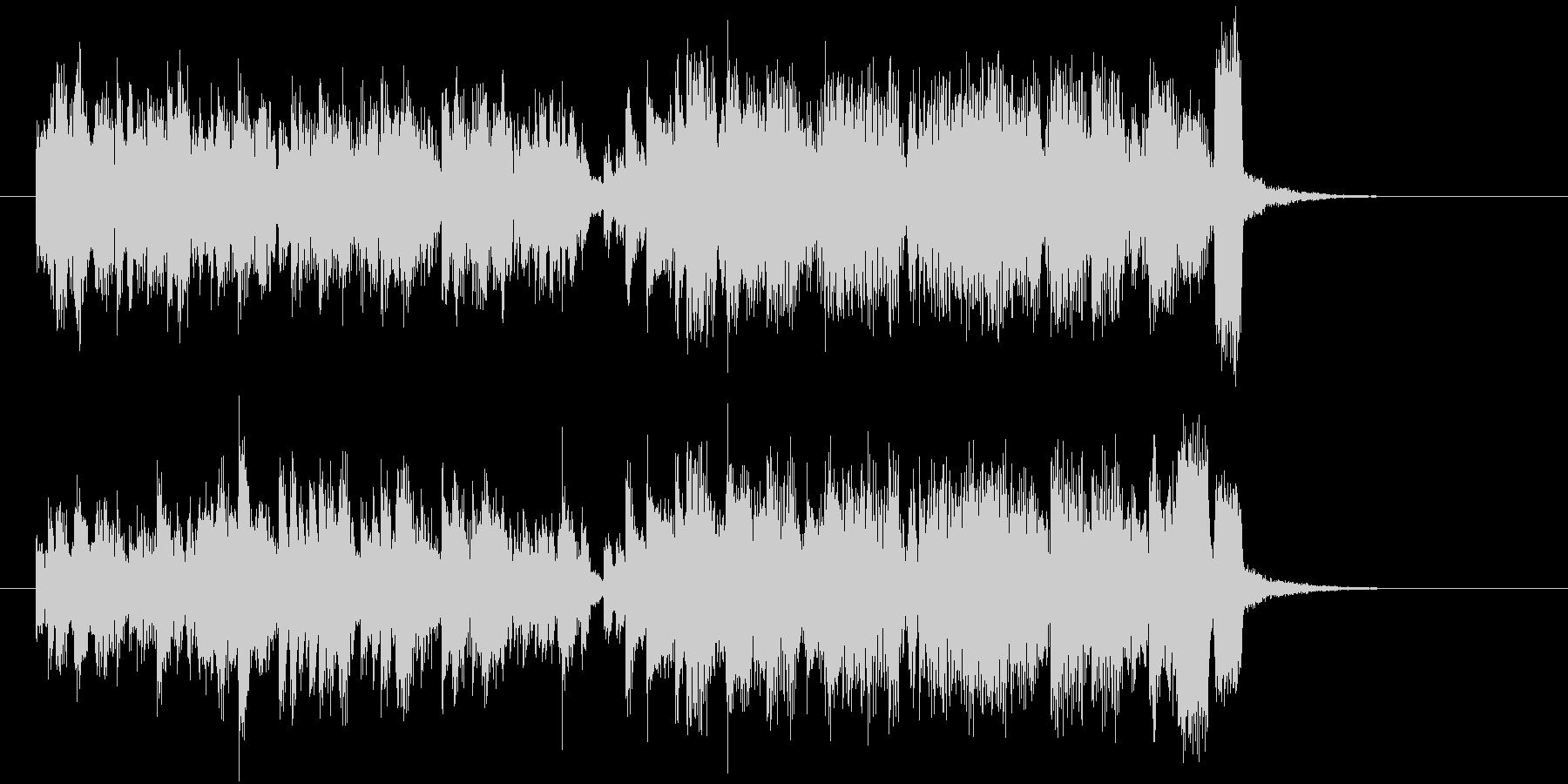 アップテンポなシンセサイザー音楽の未再生の波形