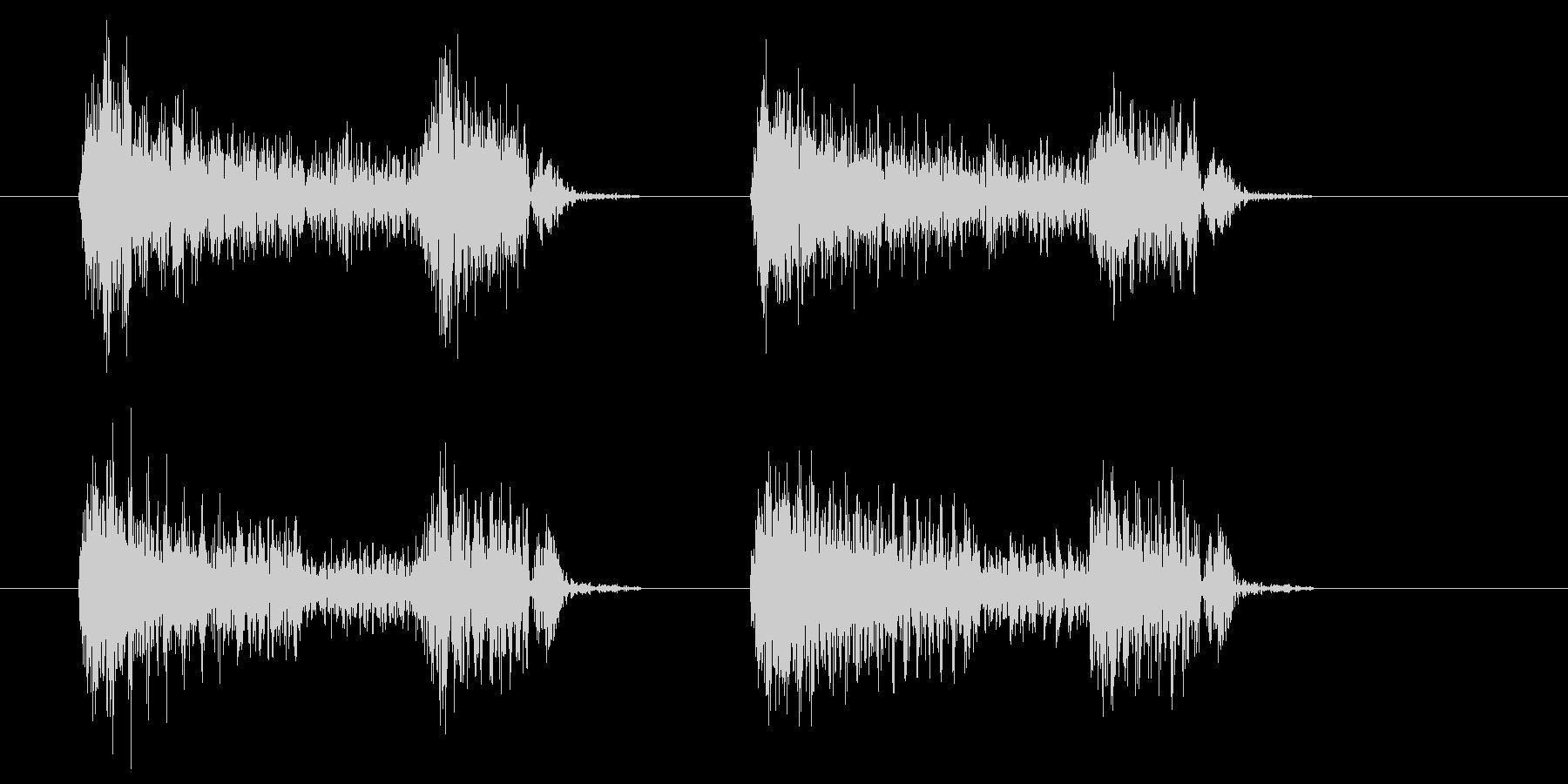アコースティックギターストロークの未再生の波形