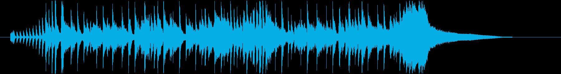 ジャズファンク風ジングル・サウンドロゴの再生済みの波形