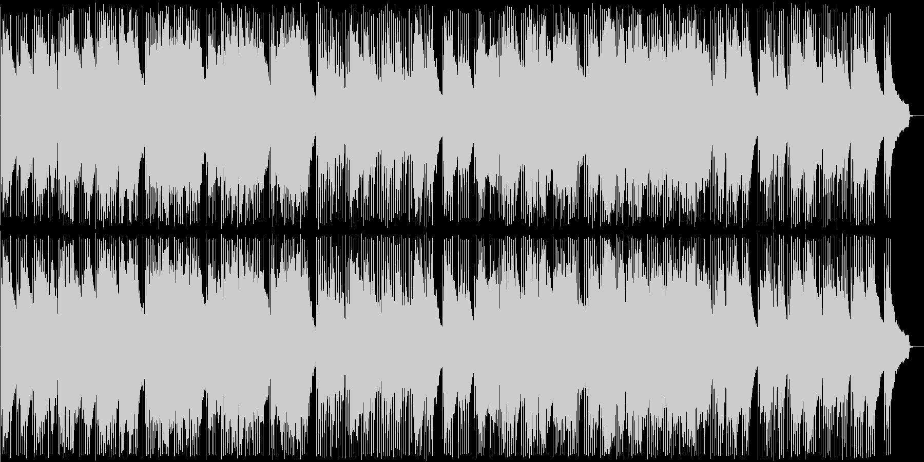 ギターの音色が心地良いボサノバの未再生の波形