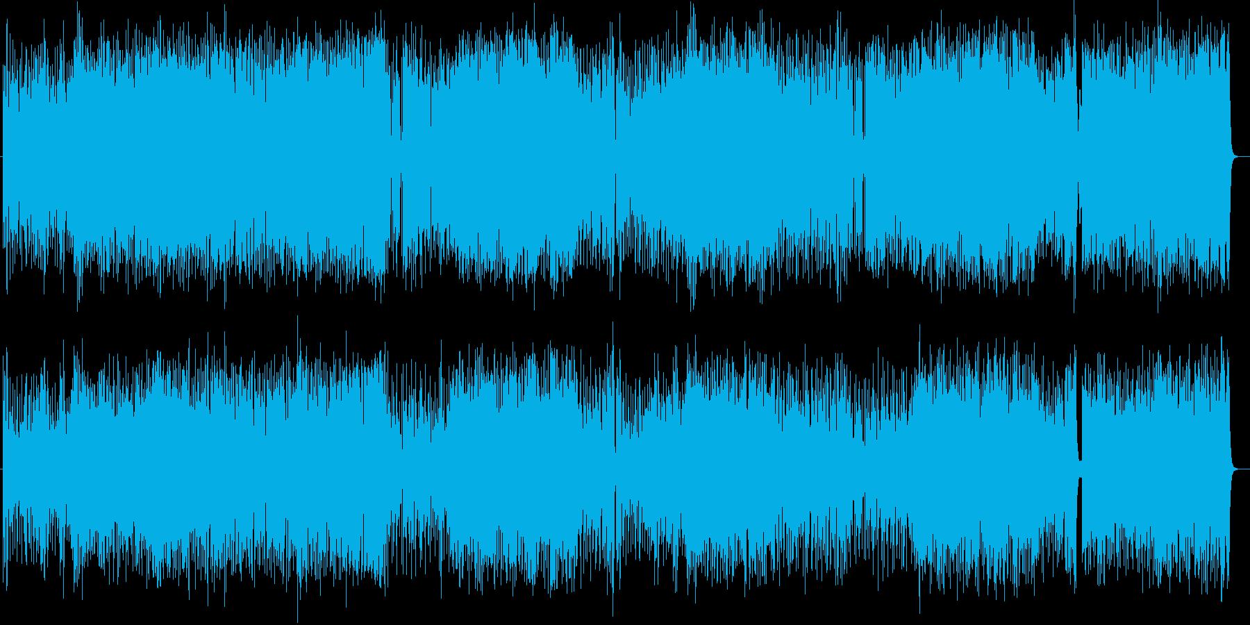 明るく元気な管楽器メインのポップスの再生済みの波形