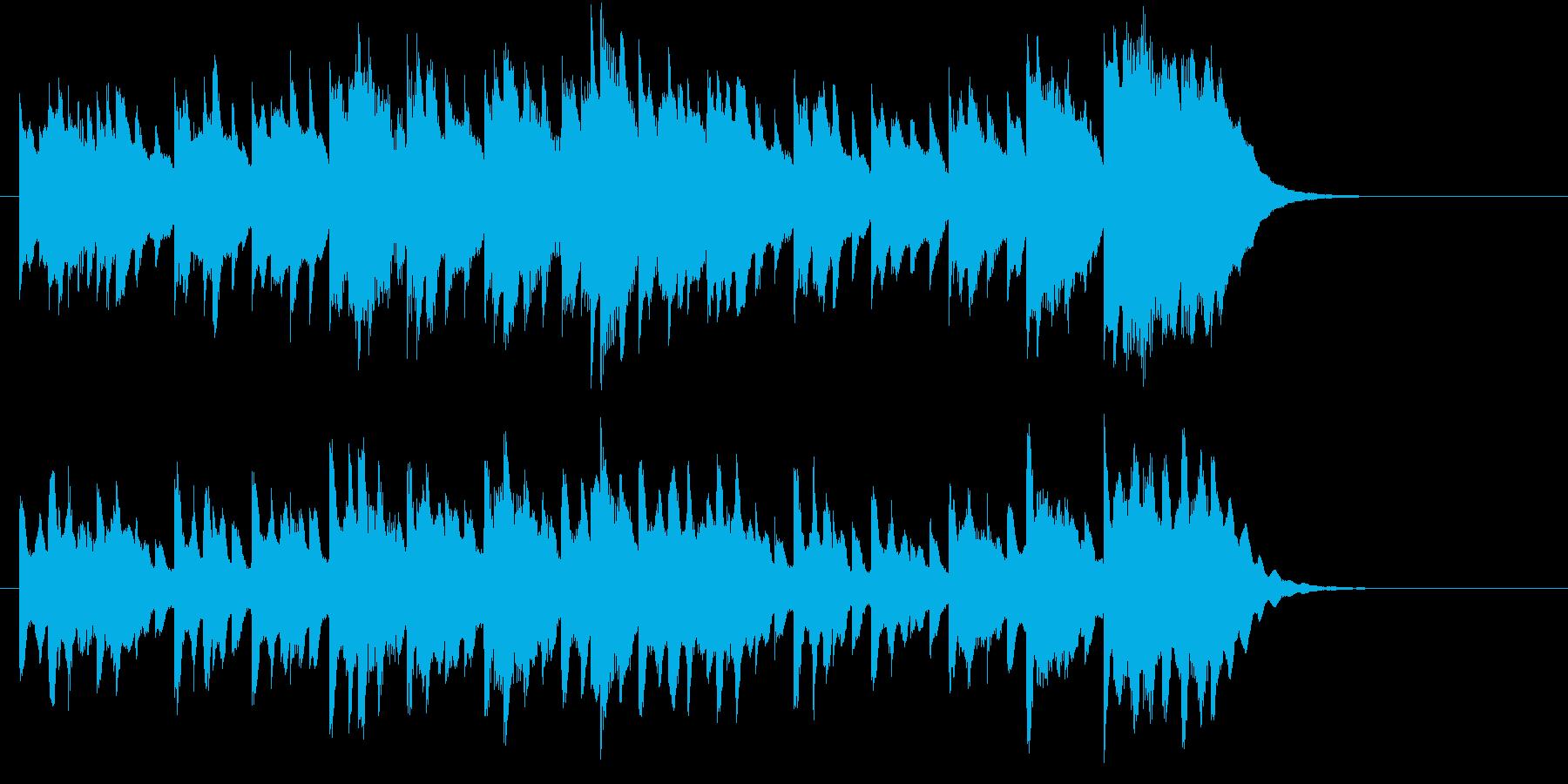 ほのぼのした明るいBGM春の歌の再生済みの波形