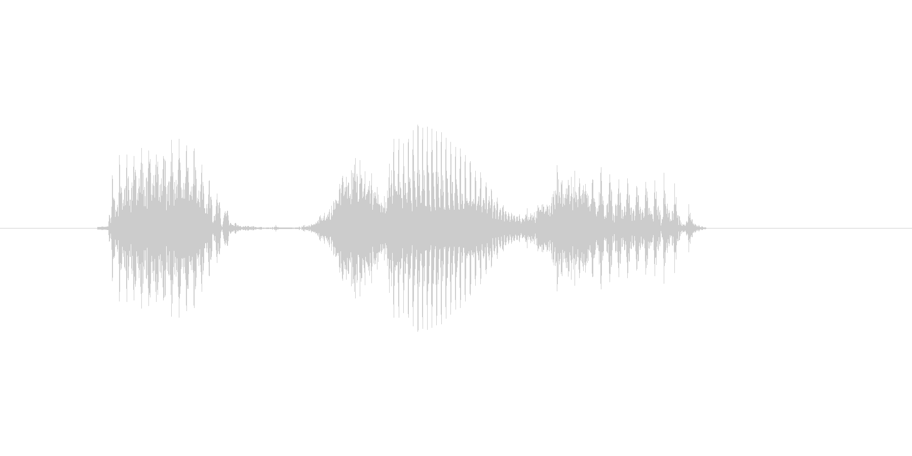 1時の未再生の波形
