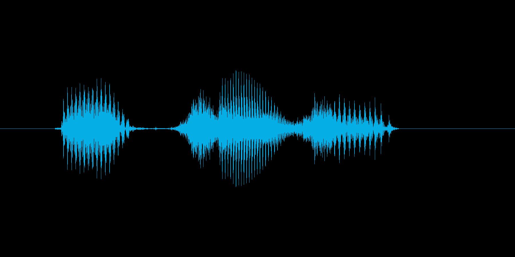 1時の再生済みの波形