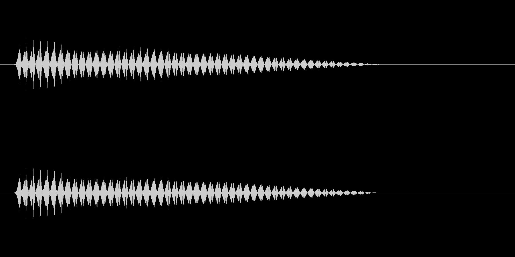 プォン(はっきりしない不思議な音色)の未再生の波形