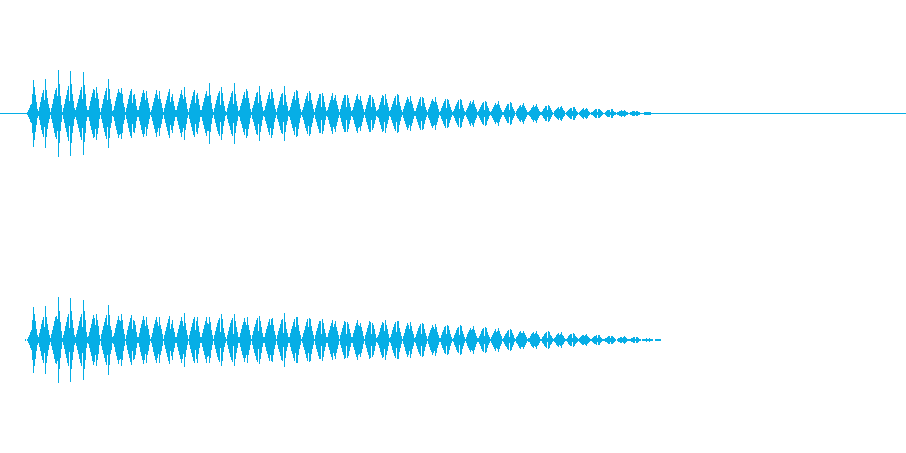 プォン(はっきりしない不思議な音色)の再生済みの波形