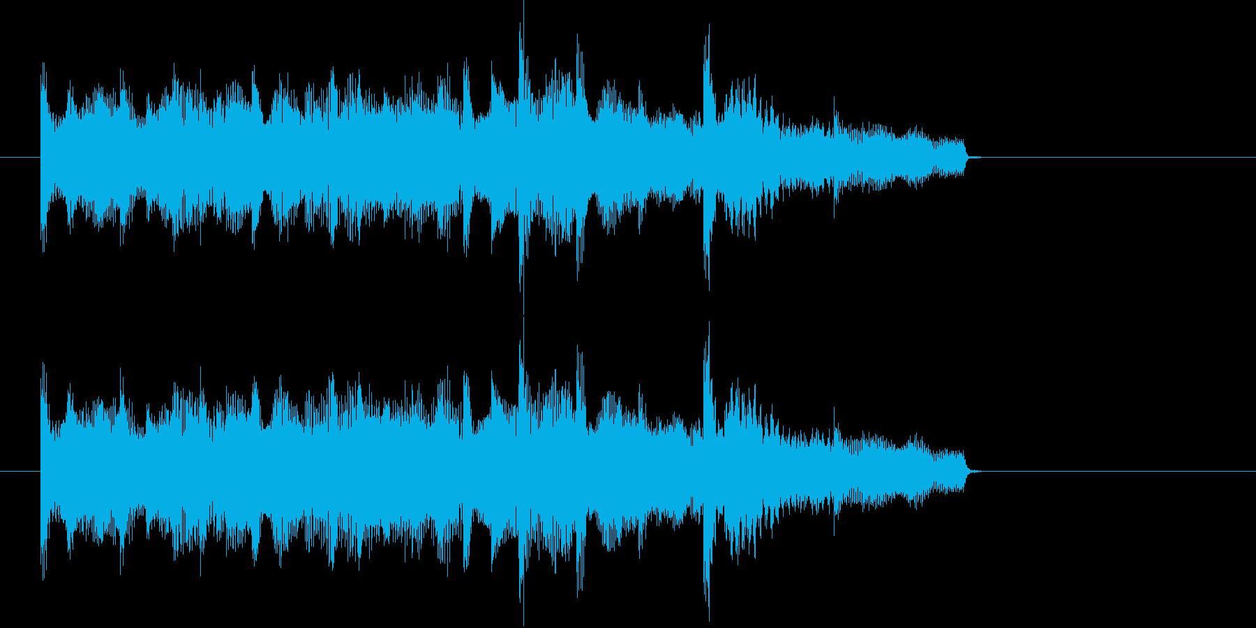 E.ピアノによる場面転換・アイキャッチ2の再生済みの波形