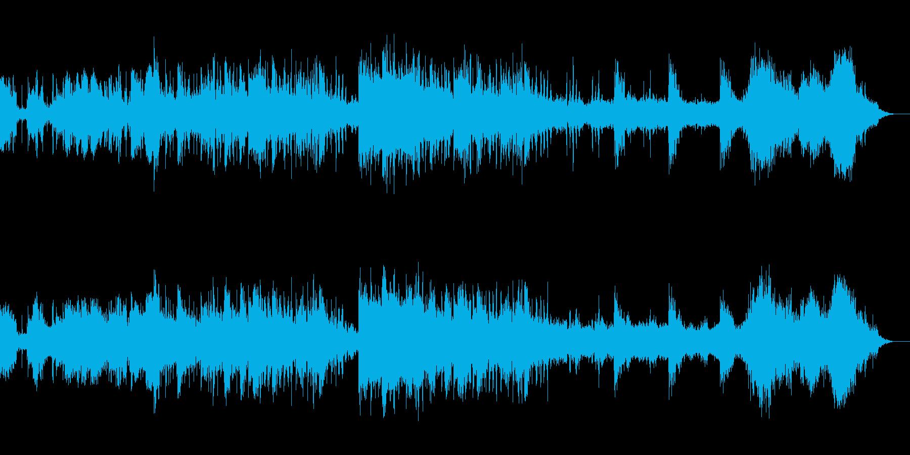 衝突音響くシネマティックトレーラーの再生済みの波形