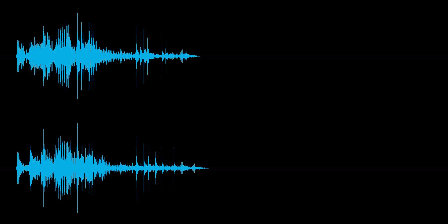 【ポワ、ポチャ】リアルな泡、水滴音05!の再生済みの波形