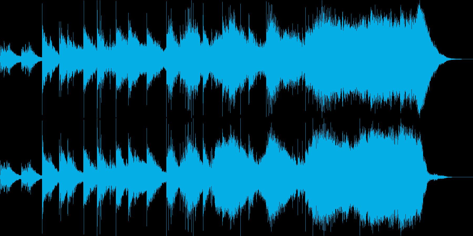 幻想的で、神仏や夜を思わせる和風の曲の再生済みの波形