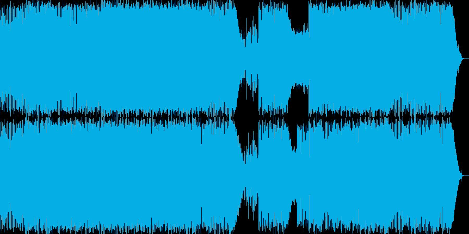 ハード&ノスタルジーなダンスミュージックの再生済みの波形