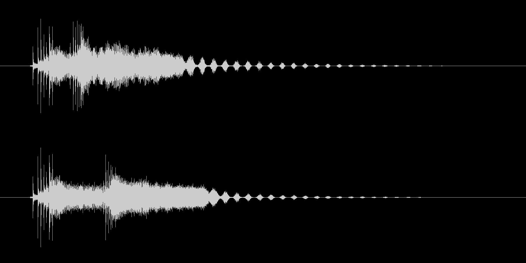 3つのコード、可愛い弦のストロークの未再生の波形