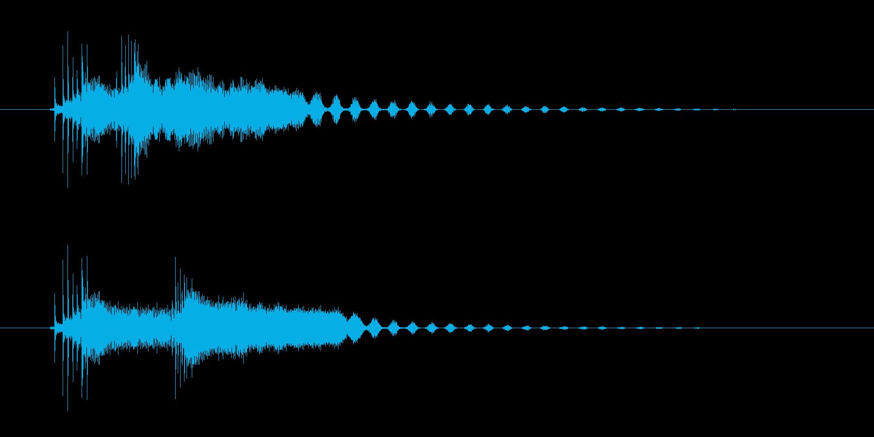 3つのコード、可愛い弦のストロークの再生済みの波形