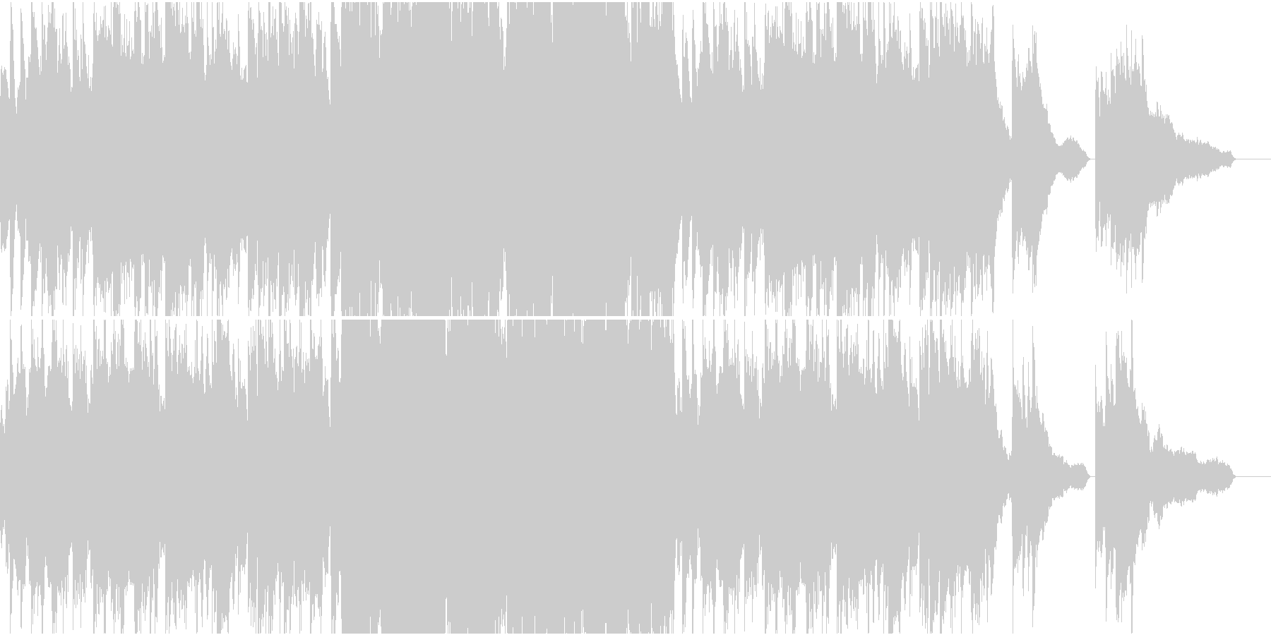 架空言語でエンディング風な合唱曲の未再生の波形