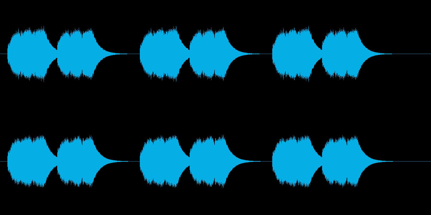 実用的な着信音の再生済みの波形