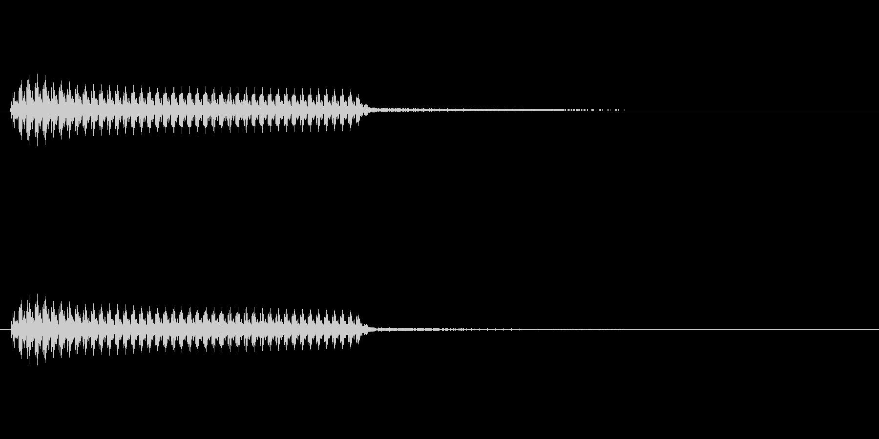 「ブー」(不正解の音)(悪役の音)の未再生の波形