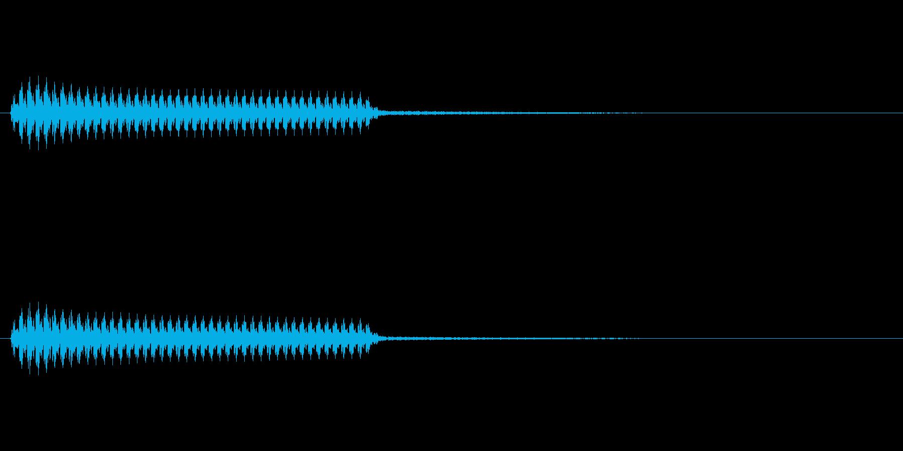 「ブー」(不正解の音)(悪役の音)の再生済みの波形