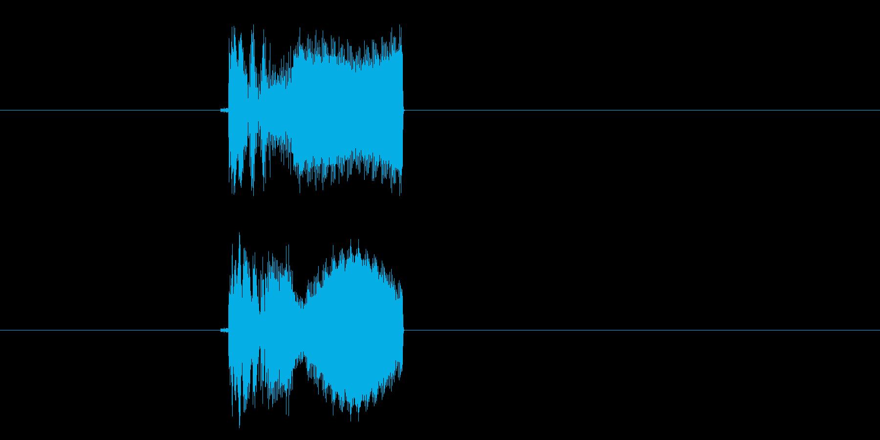 チュイーン(ビーム、マシーン)の再生済みの波形