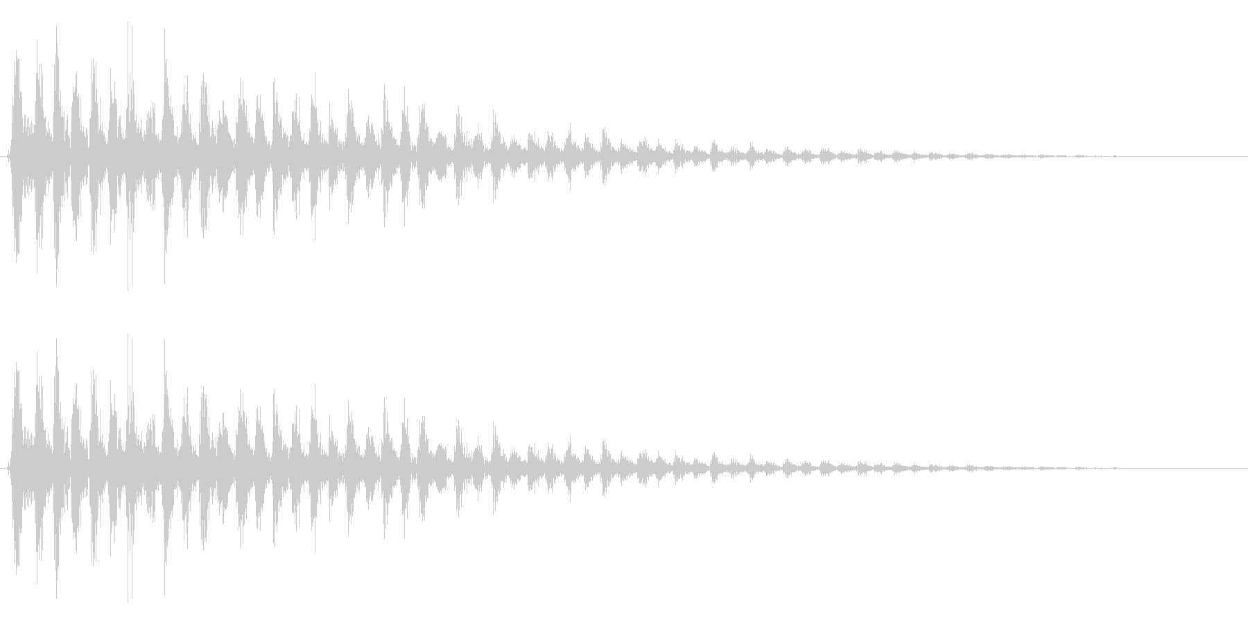 カァァーッ! ビブラスラップの未再生の波形