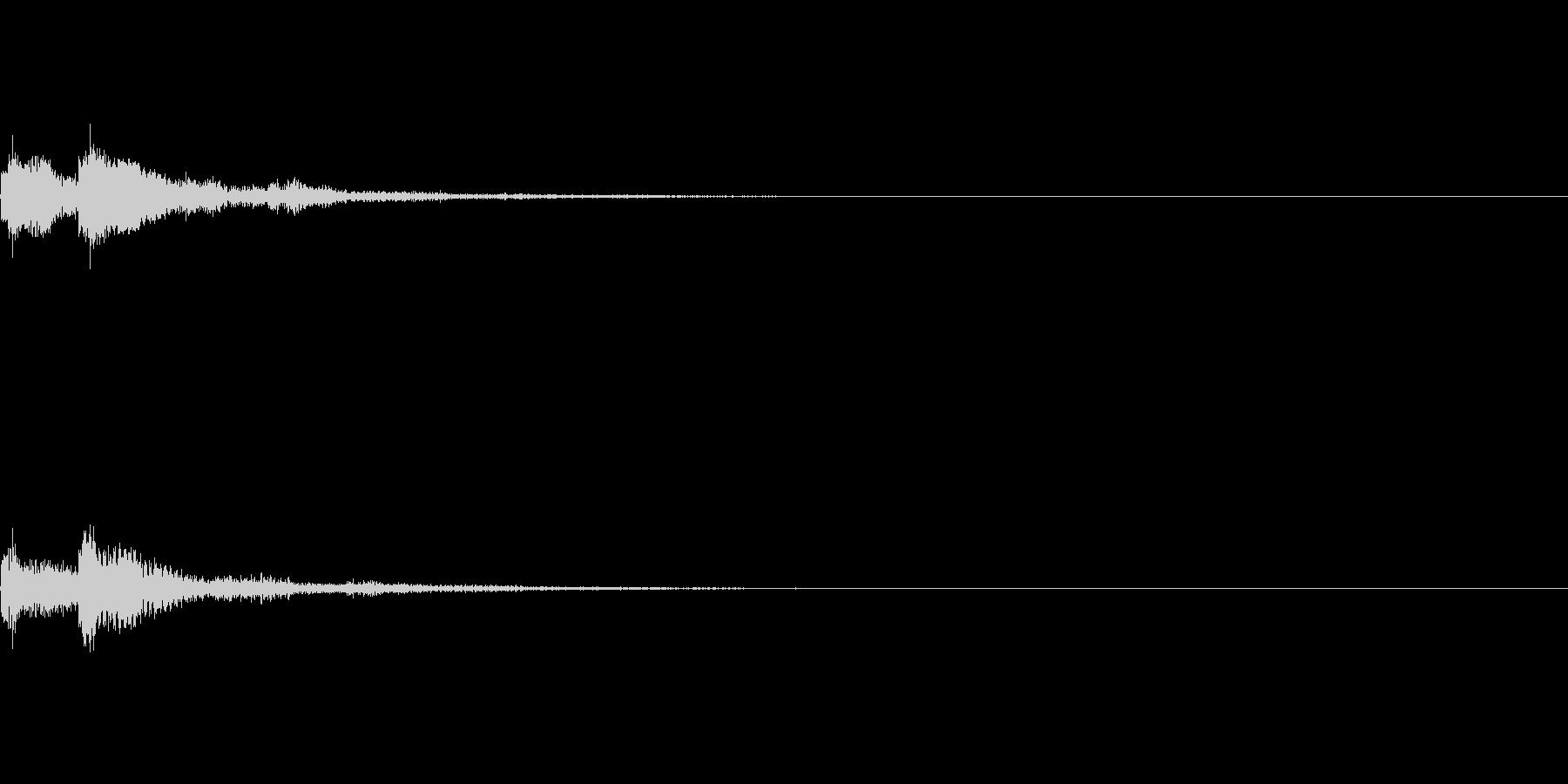 パソコンの起動音の未再生の波形