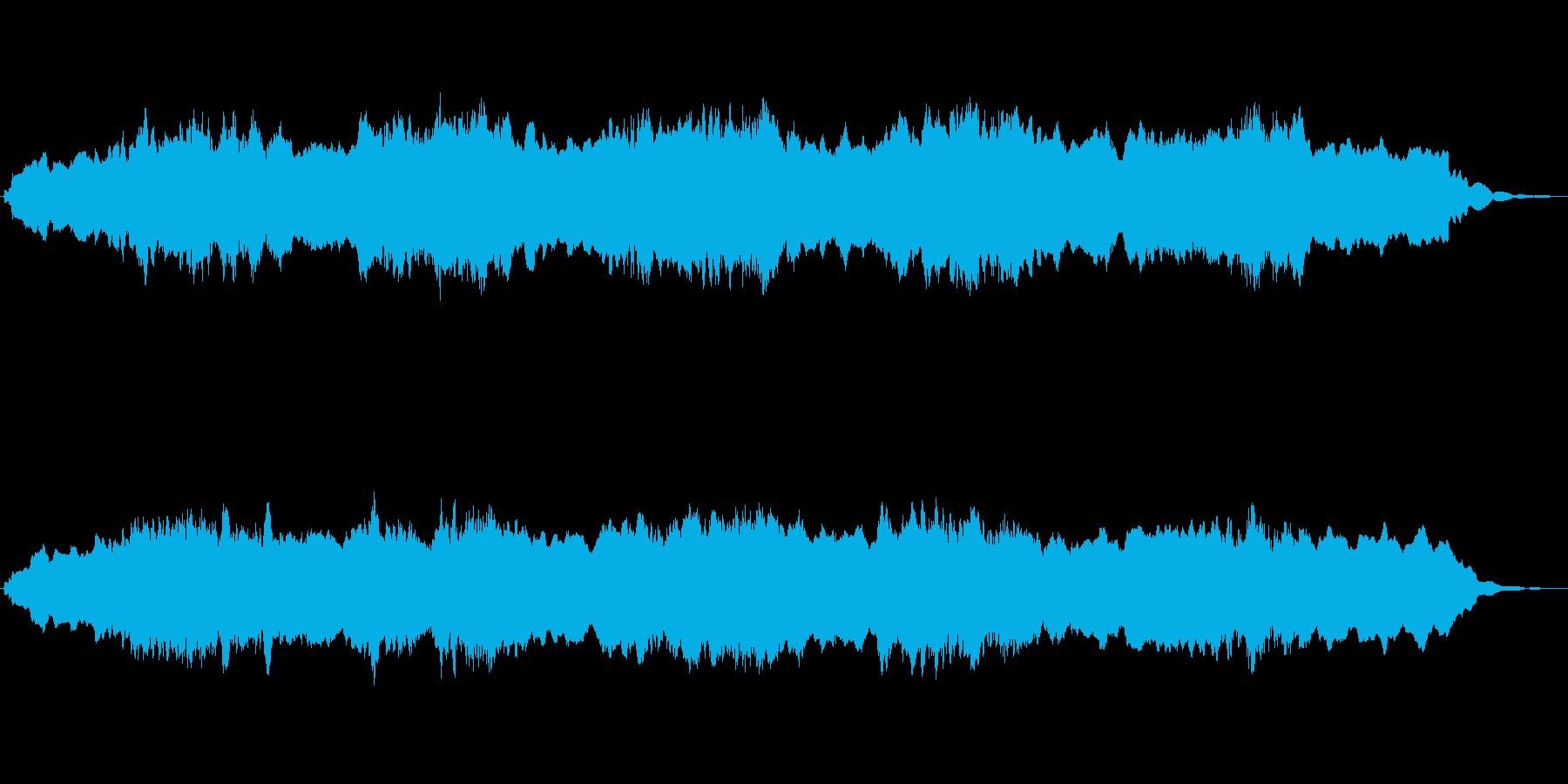 キラキラしたアンビエントなジングルの再生済みの波形