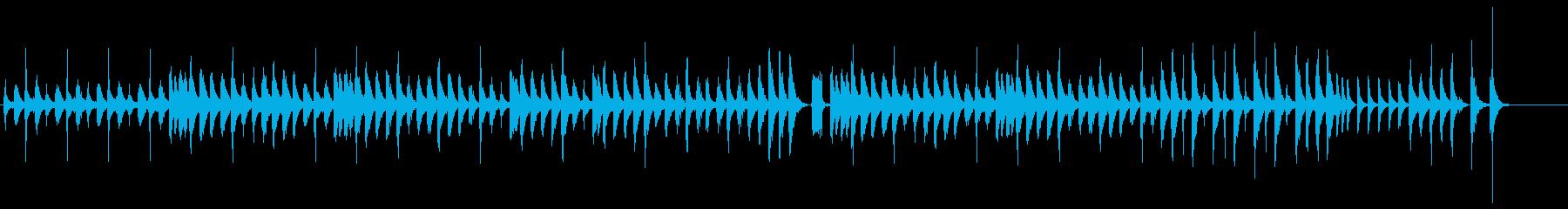 お茶目でコミカルなアップテンポの曲の再生済みの波形